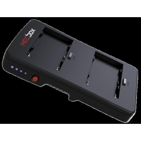 HBP-NPF HEDBOX Piastra V-Lock a due batterie per Camcorder professionali