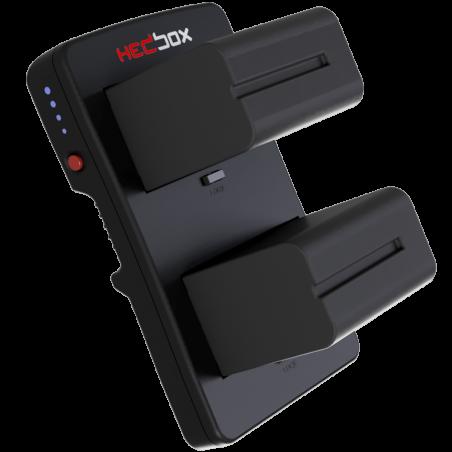 HBP-NPF HEDBOX Piastra V-Lock a due batterie (Non incluse)